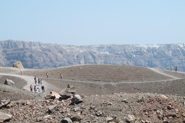 Volcano crater, New Kameni