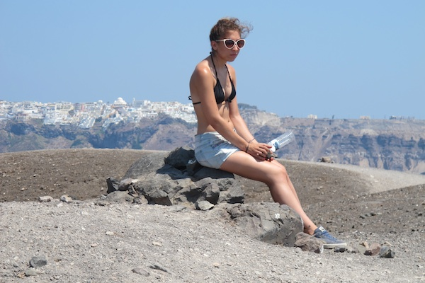 Sitting on the volcano