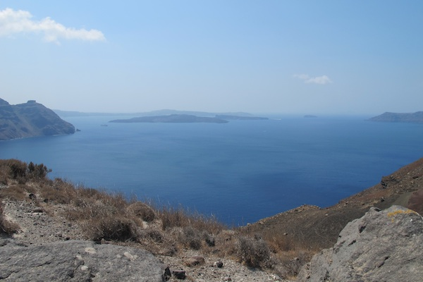 View across the caldera