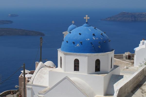 Blue dome, Imerovigli